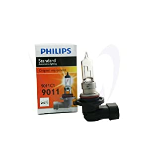 2 x PHILIPS 9011/HIR1 C1 X 1 BULB 65W STOCK COLOR HEADLIGHT BULB HALOGEN