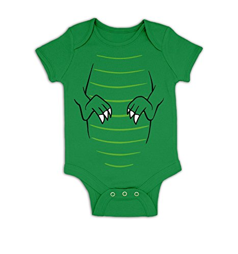 T-Rex Costume Baby Grow - Kelly Green 3-6 Months