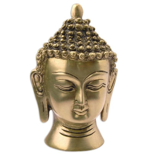 kopf statue lord buddha messing skulptur religi se dekorative figuren. Black Bedroom Furniture Sets. Home Design Ideas