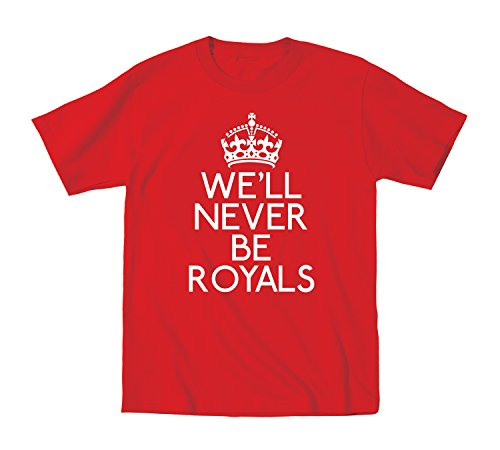 We'Ll Never Be Royals Music Cool Crown Fun - Juvy T-Shirt - Red - 7J