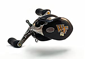 Buy NCAA Wake Forest Demon Deacons Fishing Reel, Right Handed by Evercast