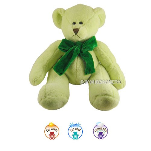 Jr. Green Chamois Bear- Aromatherapy Stuffed Animal - Hot And Cold Therapy