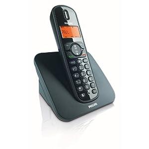 Philips CD1501B/38 DECT Schnurloses Telefon, schwarz