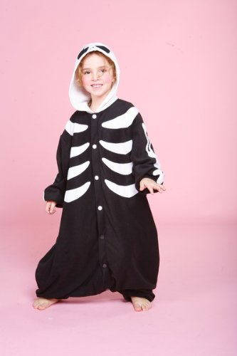 Cushzilla Skeleton Child Cushy Pajama front-587995