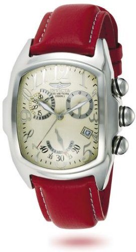 Invicta Dragon Grand Lupah Mens Red Lorica Strap Chronograph Watch 2096