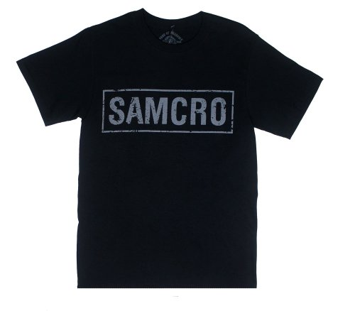 Sons of Anarchy Samcro Logo Black T-shirt X-Large