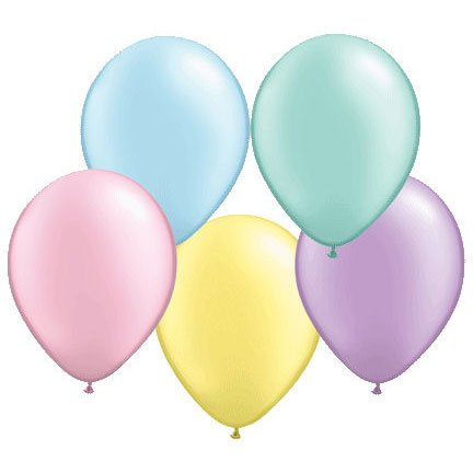 "Qualatex 16"" Assorted Light Pearlized Latex Balloons (10ct)"