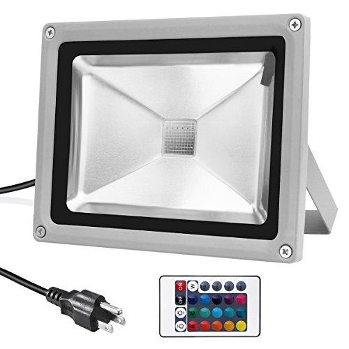 led flood light 20w rgb color changing waterproof security lights. Black Bedroom Furniture Sets. Home Design Ideas
