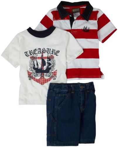 Nannette Boys 2-7 3 Piece Short Set