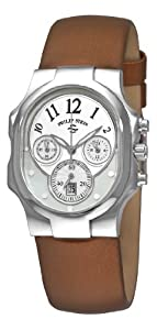 Philip Stein Women's 22FMOPIBZ Tesslar White Chronograph Dial Watch