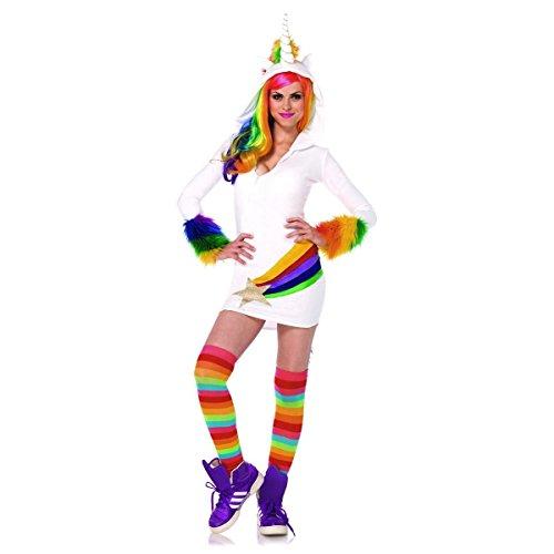 GSG Unicorn Costume Adult Hoodie Outfit Halloween Fancy Dress (Skeleton Hoodie Teen Costume)