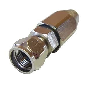 [フジパーツ] アンテナ接栓 5C用 防水型F型接栓(ピン付) 5C用 F型接栓 同軸ケーブル用/F-5FB-15 [バルク]