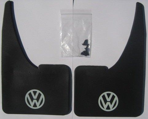 1 Pair VW Car Mudflaps - Vw White Logo -Golf-Passat-Jetta-Polo-Vento