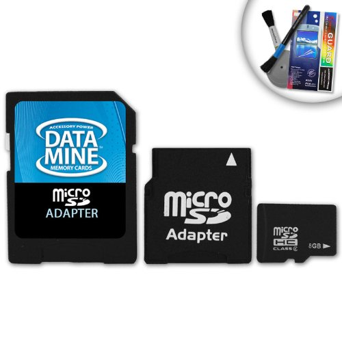 DataMINE 8GB MicroSD Class 4 Memory Card Featuring DataSafe Technology With Mini and Standard SD Adapters - for LG Optimus / Chocolate Touch / Xenon / Ally / Rumor and More LG SmartPhones
