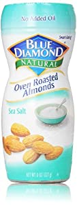 Blue Diamond Natural Oven Roasted Almonds, Sea Salt, 8 Oz
