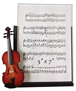 Violin Decorative Classic Black 5x7 Picture Frame