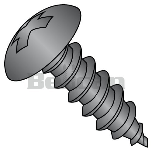 Bellcan BC-1010APTB Phillips Fully Contour Truss Self Tapping Screw Type A Fully Threaded Black Oxide 10 X 5/8 (Box of 7000)