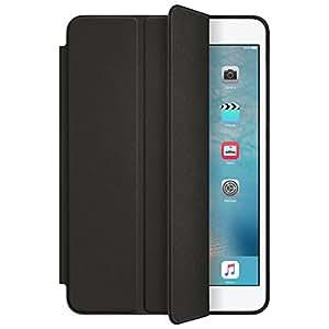 D'clair Genuine Leather Stand Premium Smart Case for iPad Mini 2/3/4 Black