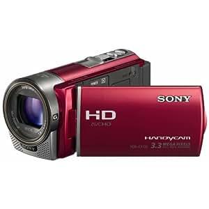 Sony HDR-CX130ER Full HD Camcorder (7,6 cm (3 Zoll) Display, bildstabilisiert, Exmor R Sensor) rot