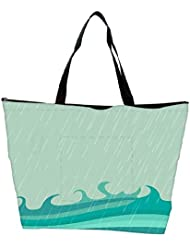 Snoogg Abstract Rainy Season Background With Waterdrops And Clouds Waterproof Bag Made Of High Strength Nylon - B01I1KIUW0