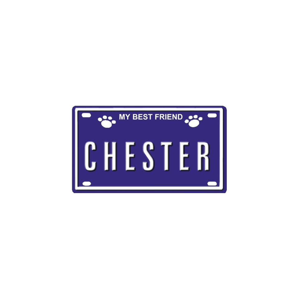 CHESTER Dog Name Plate for Dog House  Over 400 Names