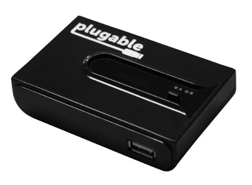 Plugable Usb 2.0 Switch For One-Button Swapping Of Usb Device/Hub Between Two Computers front-4326