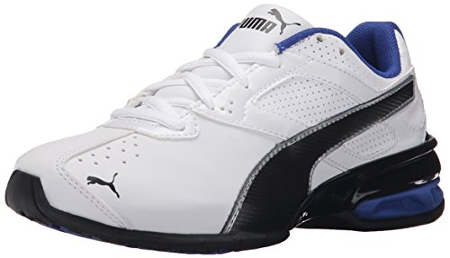 PUMA Tazon 6 SL JR Sneaker (Little Kid/Big Kid) , White/Black, 4.5 M US Big Kid