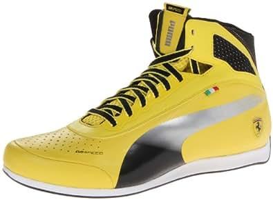 PUMA Men's Evospeed Mid Ferrari 1.2 NM Motorsport Shoe,Vibrant Yellow/Black,7.5 M US