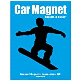 Snowboarder Male Car MagnetBlack