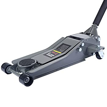 Goplus Floor Jack w/ Rapid Pump Quick Lift 3 Ton Garage Service Jack