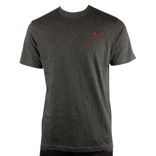 Nike Athletic Department Uomo Da Palestra Sportive Estivo Grigio T-Shirt a girocollo Maglietta - cotone, Grigio scuro, 100% cotone 100% autentico, Uomo, Medium