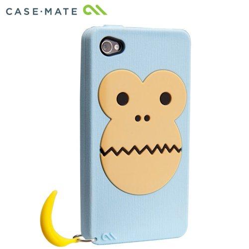 Case-Mate iPhone 4S / 4 CREATURES: Bubbles Monkey Case, Blue クリーチャーズ バブルス モンキー&バナナ シリコン ケース, ブルー CM016767