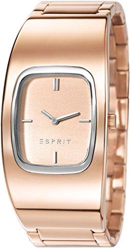 Esprit ES107822002 - Reloj de cuarzo para mujer, correa de acero inoxidable color oro rosa