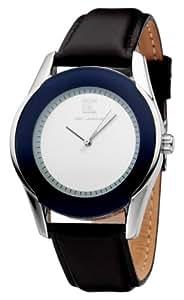 Ted Lapidus - 5117802 - Montre Homme - Quartz Analogique - Cadran Blanc - Bracelet Cuir Bleu