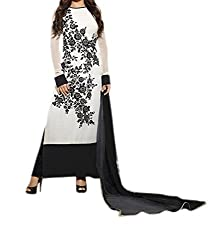 Poonam Fab-Unstitch Dress Material__white