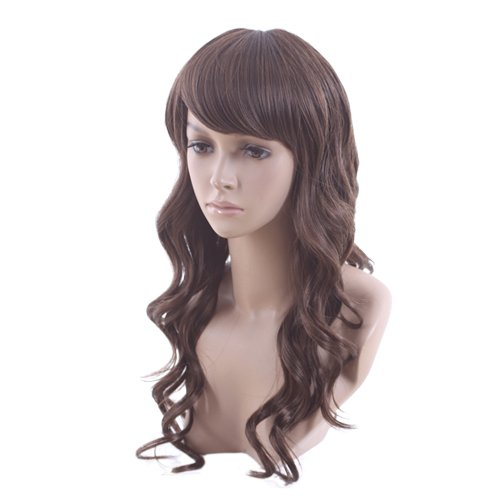 High Quality Long Curly Light Brown Classy Soft Hair Full Wig