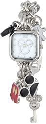 Disney Women's MK2059 Mickey Mouse Charm Bracelet Watch