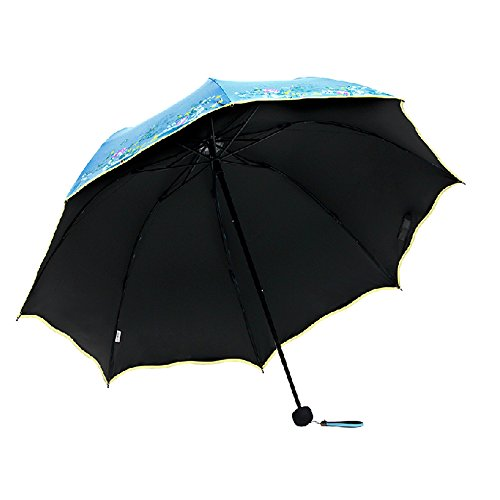xdobo sun block parasol anti uv folding windproof 37 39 39 d travel umbrella sky blue home garden. Black Bedroom Furniture Sets. Home Design Ideas