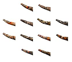 Atyourdoor 12 Pairs - Wearable Tattoo Arm sleeves Skin Cover for Sun protection
