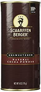 Scharffen Berger (Scharffenberger) Natural Cocoa Powder - Hot Chocolate & Baking Chocolate Tin