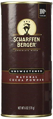 Scharffen Berger (Scharffenberger) Natural Cocoa Powder - Hot Chocolate & Baking Chocolate Tin (Baking Chocolate Powder compare prices)