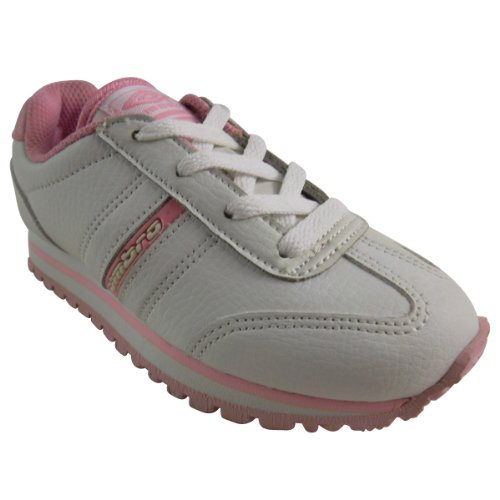 Girls Junior Kids Umbro Trainer White Pink Running School Trainers Shoes