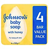 Johnson's Baby Soap with Honey 4 Bar Value Pack