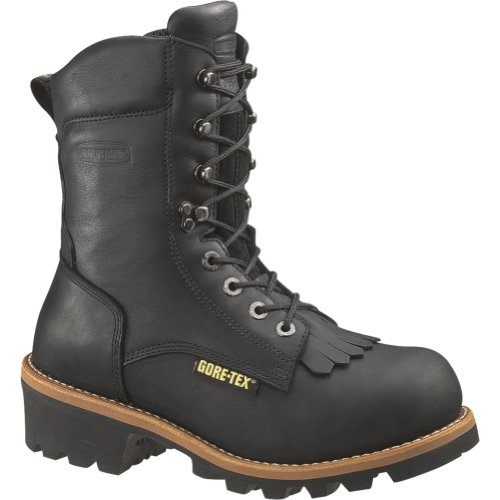 W05632 Wolverine Men's Buckeye Safety Loggers - Black - 8.0 - M