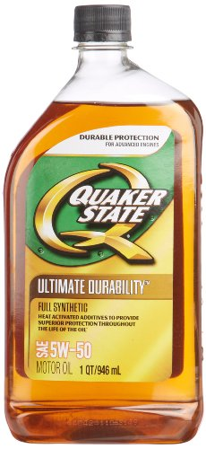 Quaker state 550036718 6pk 5w 50 ultimate durability for 5w 50 synthetic motor oil