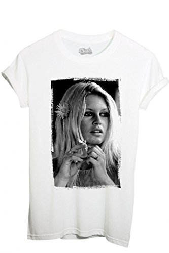 T-Shirt BRIGITTE BARDOT - FAMOSI by iMage Dress Your Style - Donna-S-BIANCA
