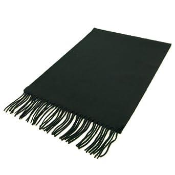 Classic Premium Unisex Plain Solid Color Winter Fringe Scarf - Different Colors Available, Black