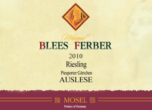 2010 Blees Ferber Riesling Auslese Piesporter Gärtchen - Noble Sweet 500 Ml