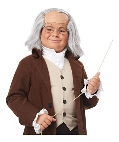 Benjamin Franklin Boys Wig Costume Accessory (Founding Fathers Costumes)