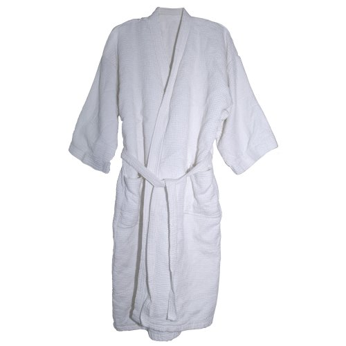 The Bahama Towel Company 540-Gram Bahama Spa Oasis Unisex Robe, White
